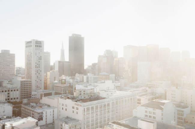 Blick über San Francisco bei strahlendem Sonnenschein