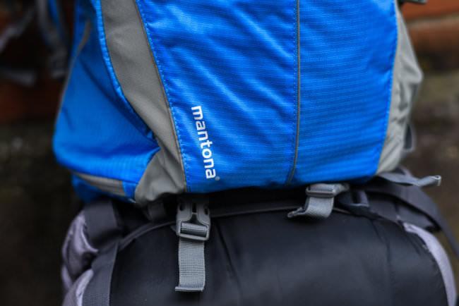 Logo auf einem Rucksack