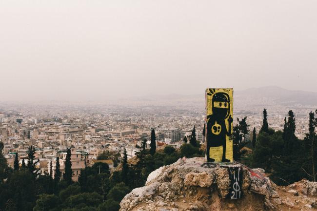 Graffiti über Athen