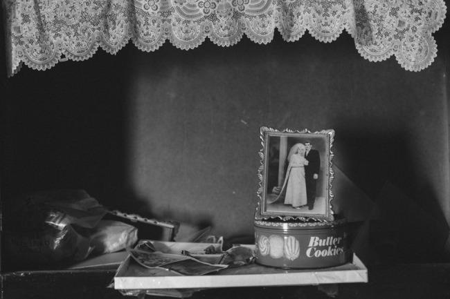 Ein Hochzeitsfoto auf einer Keksdose