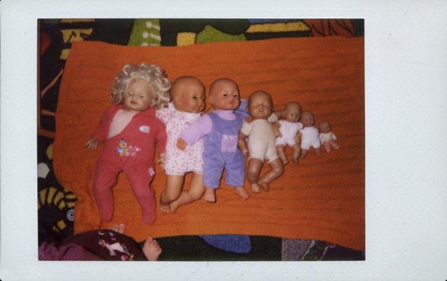 Babypuppen nach Größe sortiert