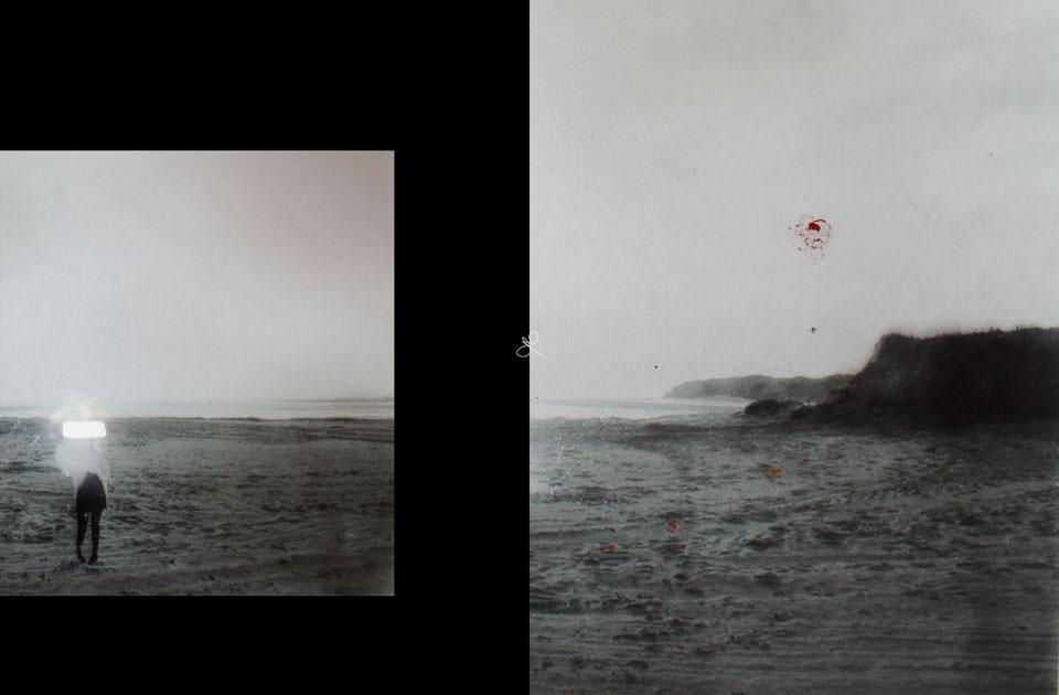Zwei Bilder, eine Landschaft.