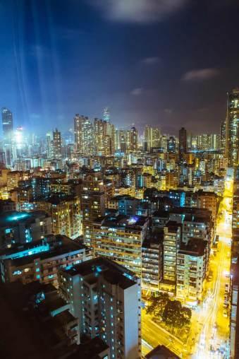 Die Skyline bei Nacht