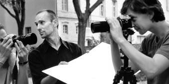 Studenten im Fotokurs