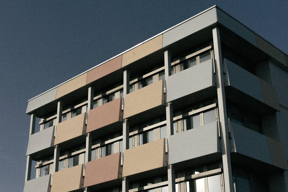 Eine Gebäudefassade