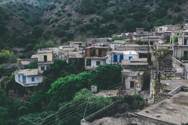Ein verlassenes Dorf