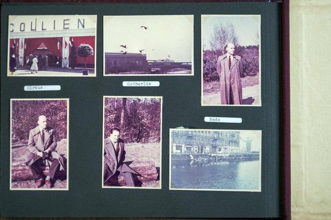 Ein Fotoalbum mit bunten Fotos.