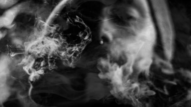 Doppelbelichtung mit Rauch