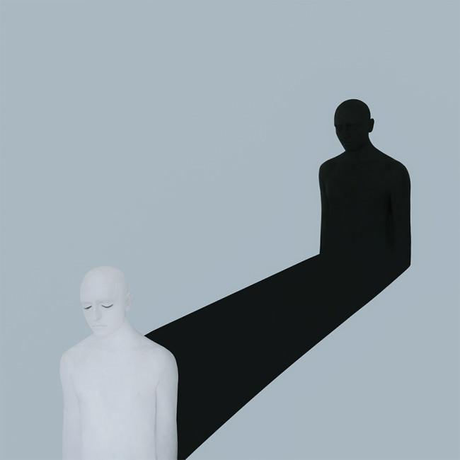 Ein Mensch und sein Schatten