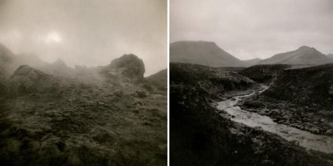 Ein Dyptichon von Hügelketten