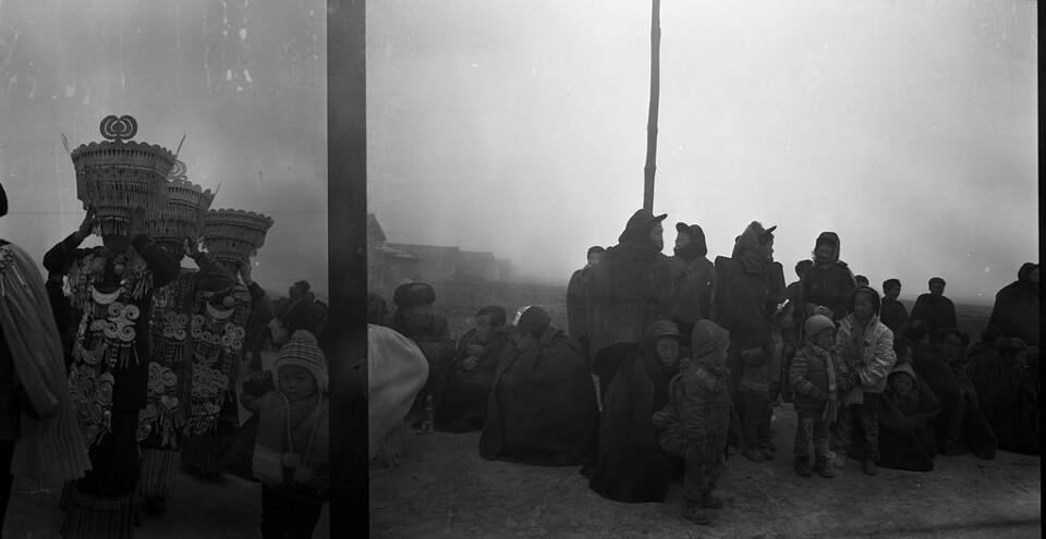 Zwei Fotos chinesischer Menschen.