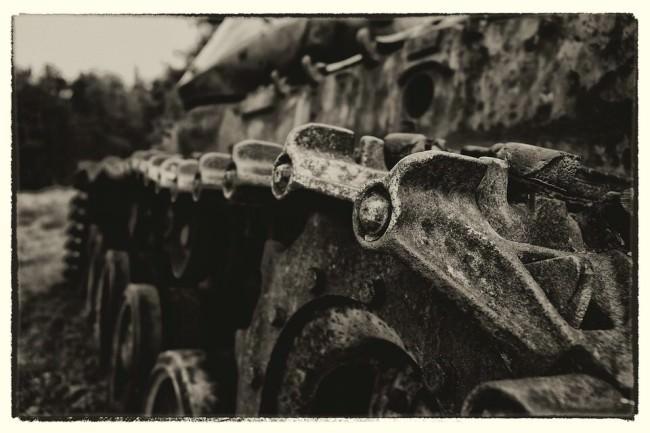 Detailaufnahme eines Panzers