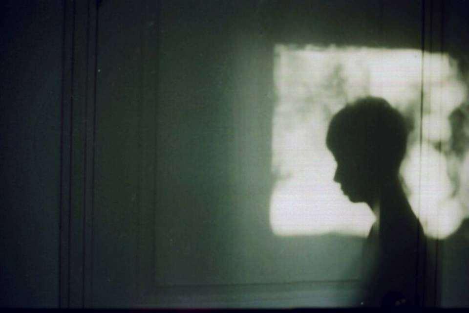 Schatten in einem Sonnenfleck.