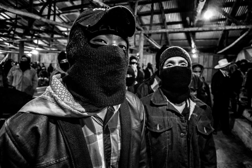 Mitglieder der Zapatista Bewegung