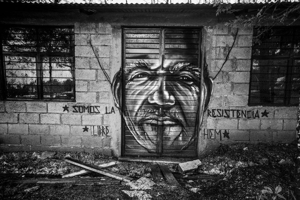 Eine bemalte Tür
