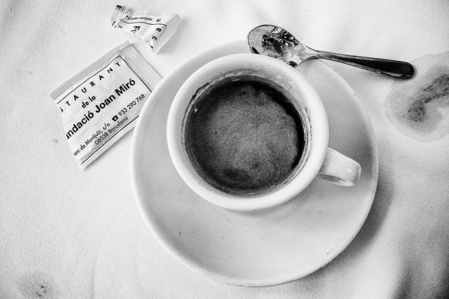 Tasse Kaffee mit Zucker