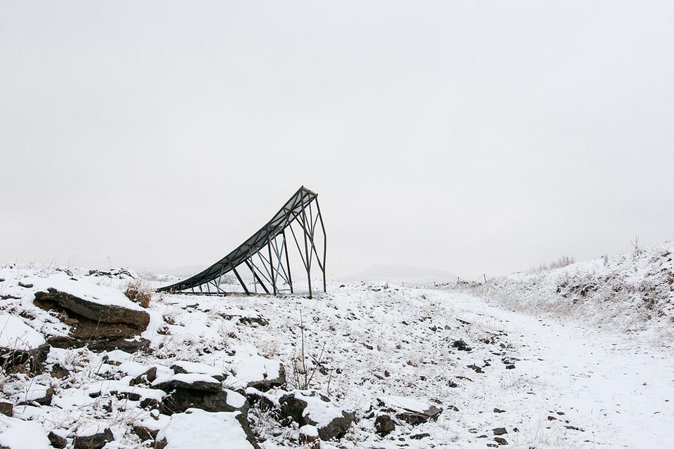 eine zertörte Brücke