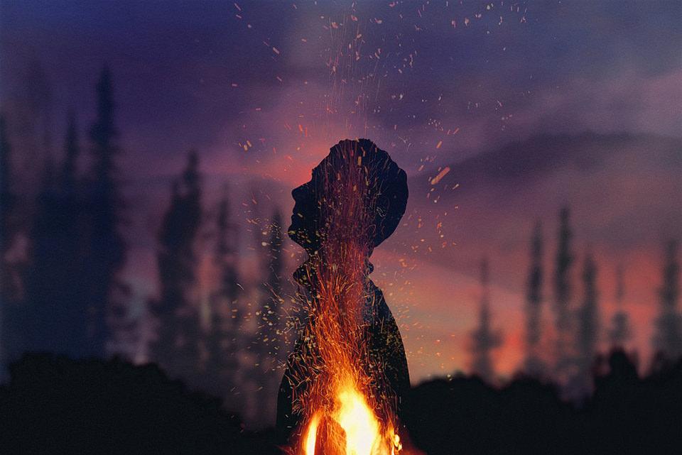 Feuer und Mensch