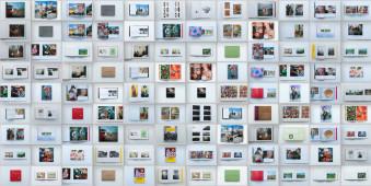 Eine Übersicht über viele Fotobände von Martin Parr