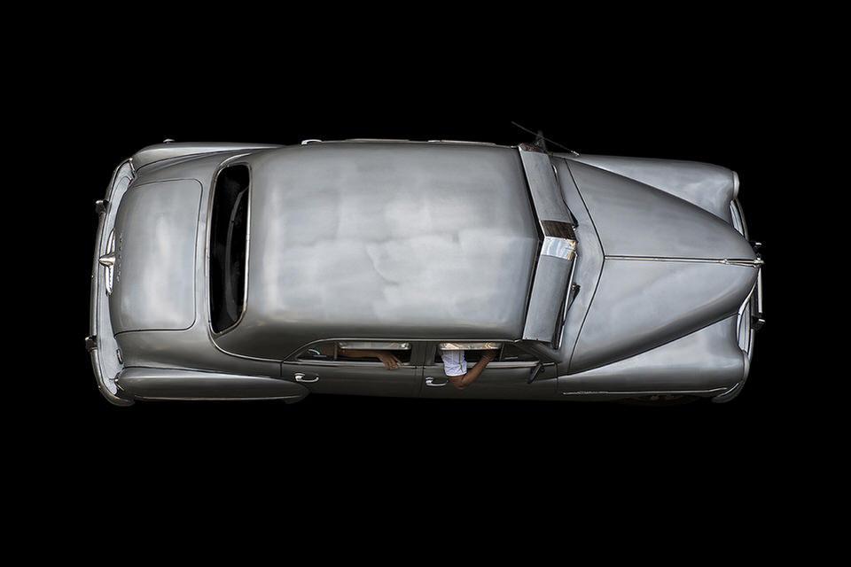 Silbernes Auto