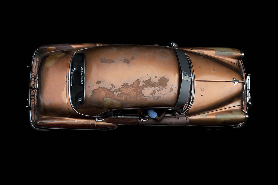 Bronzefarbenes Auto