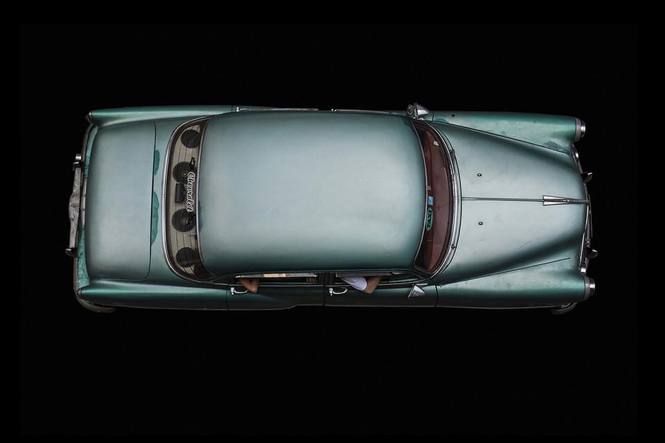 Mintgrünes Auto