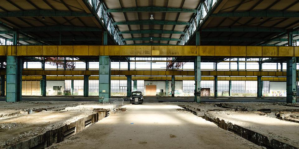 Eine verlassene Halle