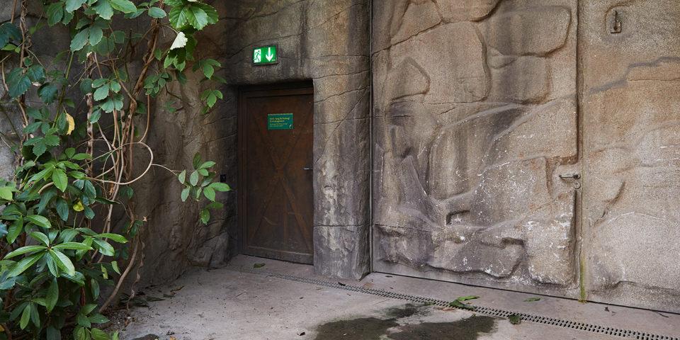 Notausgang in einem Zoo