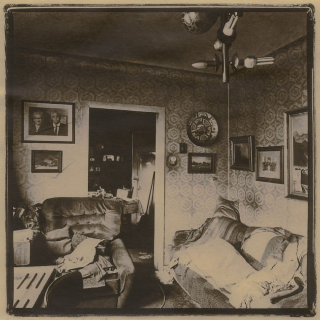 Eine verlassene Wohnung.