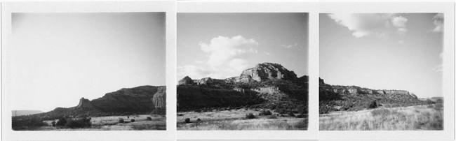 Landschaftsbild auf mehreren Sofortbild Filmen