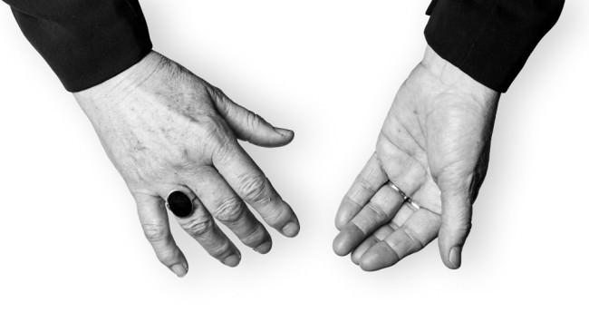 Die Hände der Lydie Auvray.