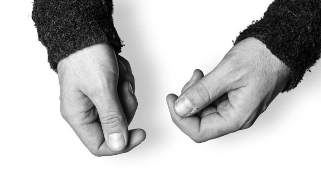 Die Hände des Wolfgang Haffner