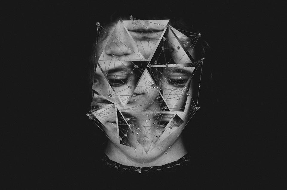 Abstraktes Schwarzweiß Bild