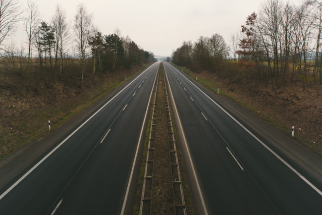 Leere Autobahn