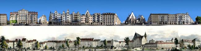 Der Dittrichring, Teil des Leipziger Rings, früher und heute