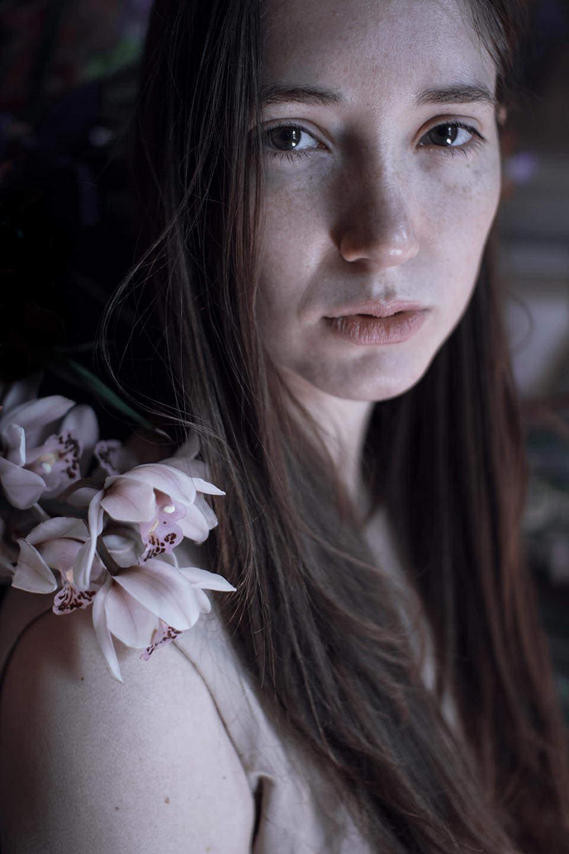 Frau mir Orchidee