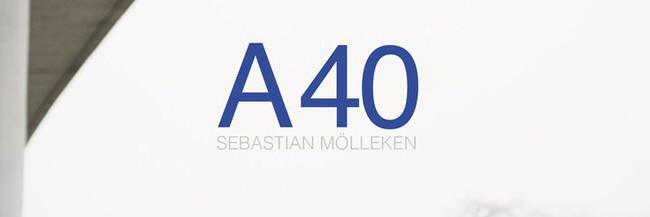 Ausschnitt des Covers vom Buch A 40 von Sebastian Mölleken