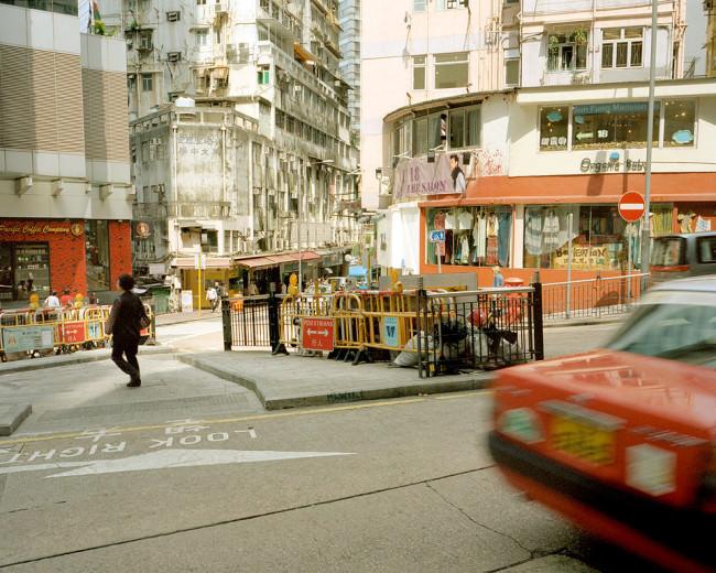 Eine Straßenszene in Hongkong.