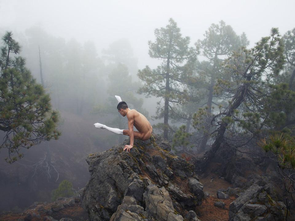Ein Mann auf einem Felsen