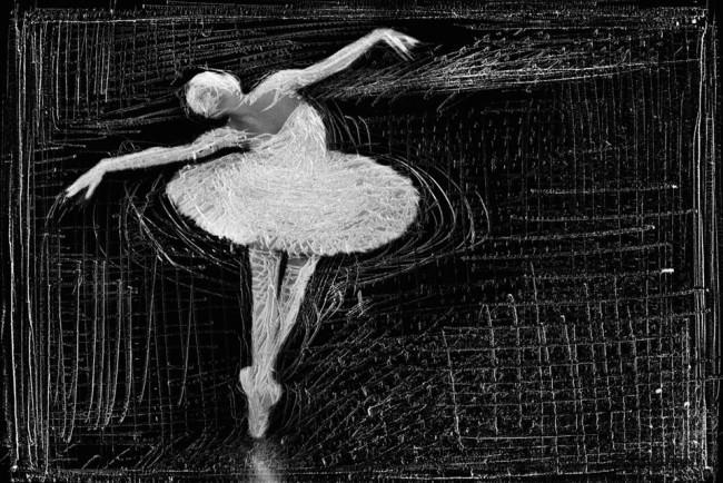 Eine tanzende Ballerina.