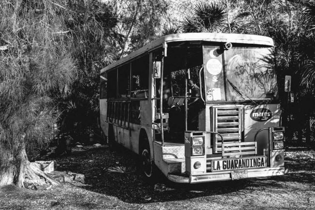 Ein verlassener Bus
