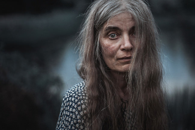 Ein Portrait einer älteren Frau