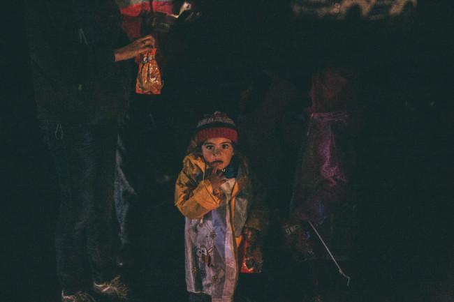 Kind im Lager Röszke