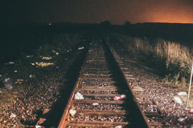 Gleise zwischen Serbien und Ungarn