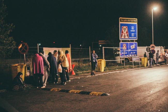 Flüchtlinge zwischen Serbien und Ungarn