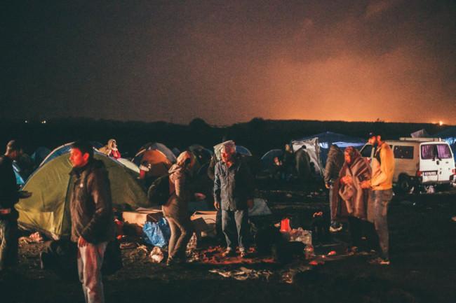 Flüchtlinge im Lager Röszke