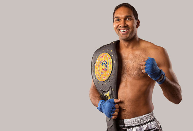 Ein Portrait eines Boxers