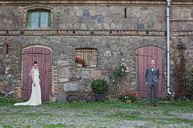 Ein Brautpaarportrait