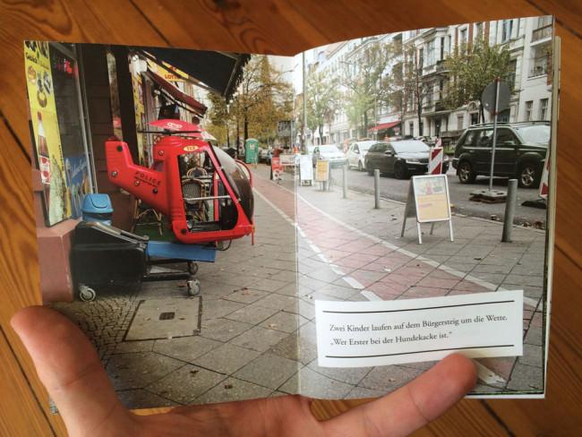 Ein roter Bürgersteig