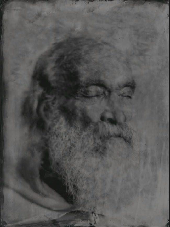 Nassplatten Portrait einer Person